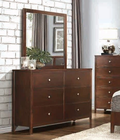 Cullen Contemporary Cherry Brown Wood Dresser HE-1855-5