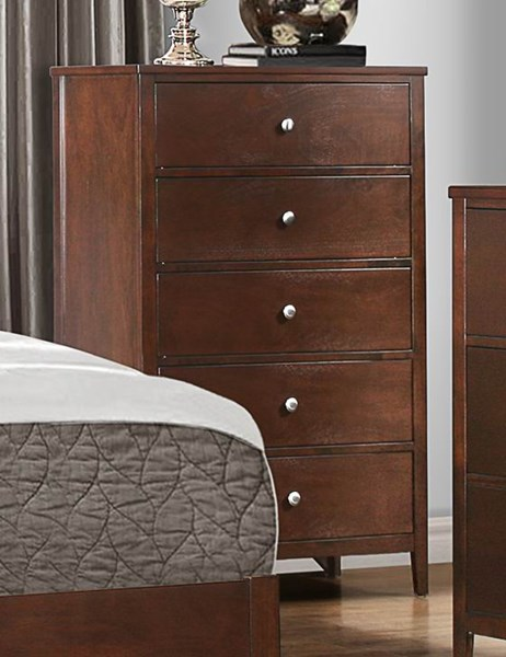 Cullen Contemporary Cherry Brown Wood Chest HE-1855-9