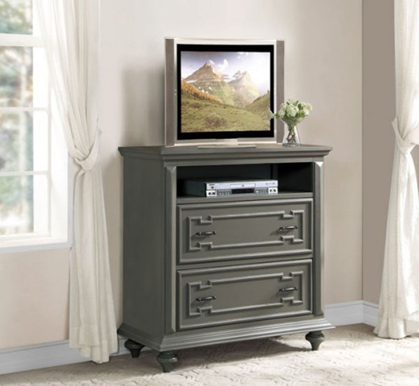 Marceline Traditional Grey Wood TV Chest HE-1866-11