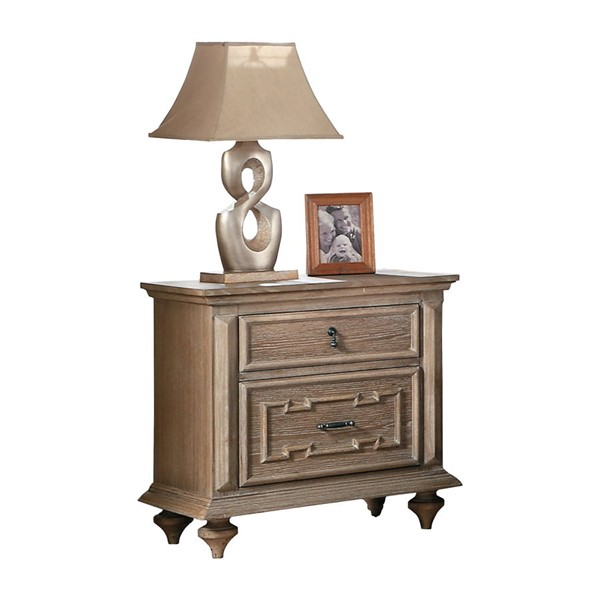 Home Elegance Marceline Gray Night Stand HE-1866GY-4