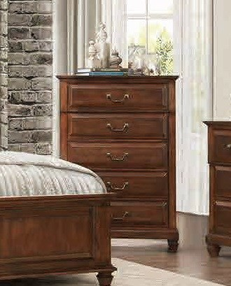 Bardwell Traditional Cherry Brown Wood Chest HE-1870-9