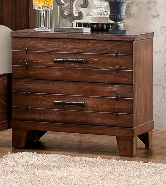 Brazoria Contemporary Natural Wood Night Stand HE-1877-4