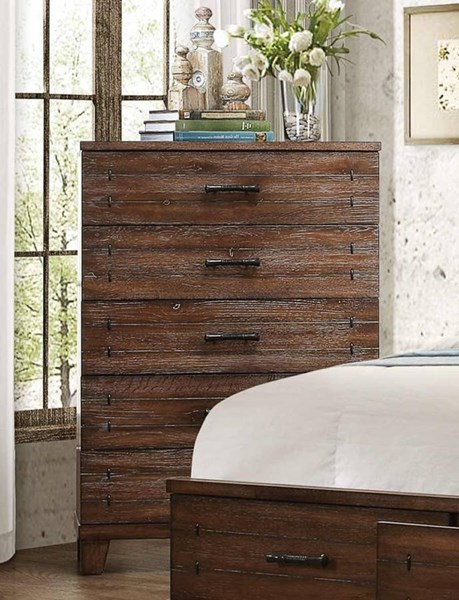 Brazoria Contemporary Natural Wood Chest HE-1877-9