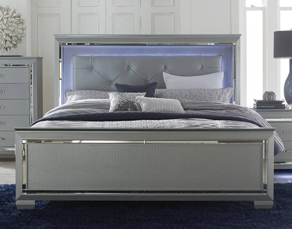 Home Elegance Allura Silver Full LED Bed HE-1916F-1