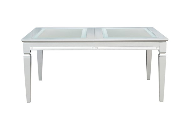 Home Elegance Allura Silver Glass Insert Dining Table HE-1916-84