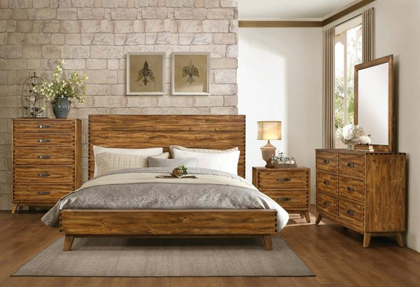 Sorrel Modern Rustic Solid Wood Master Bedroom Set The Classy Home