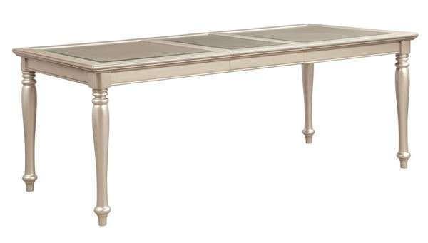 Home Elegance Celandine Silver Dining Table HE-1928-78NG