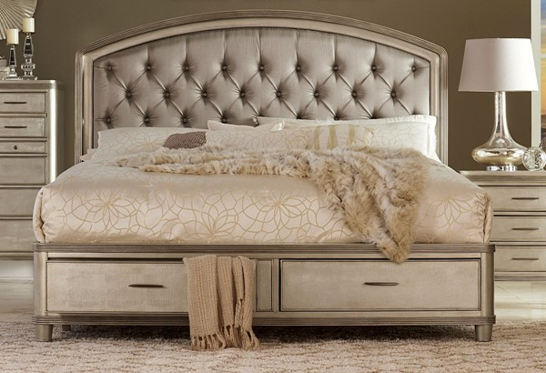 Home Elegance Tandie Champagne Beds HE-1933-BEDS