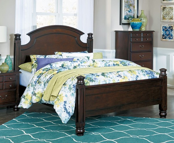 Home Elegance Frederica Burnished Cherry King Bed HE-1949K-1EK