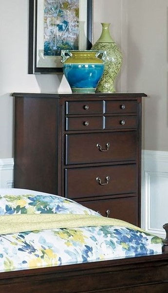 Home Elegance Frederica Burnished Cherry Chest HE-1949-9
