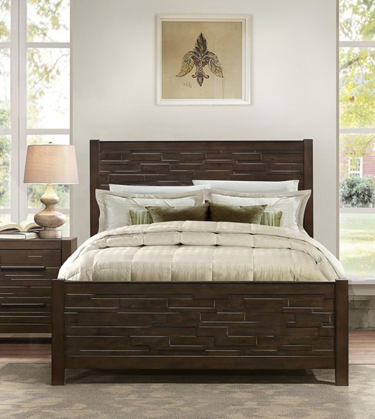 Home Elegance Bowers Java Brown Queen Bed HE-1952-1