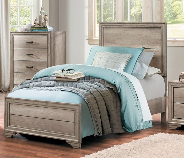 Home Elegance Lonan Melamine Twin Bed HE-1955T-1
