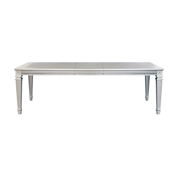 Home Elegance Bevelle Silver 18 Inch Leaf Dining Table HE-1958-96