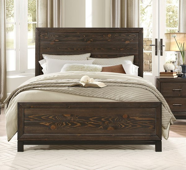 Home Elegance Branton Antique Brown Full Bed HE-1968F-1