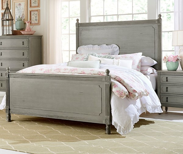Home Elegance Aviana Gray Pewter Queen Bed HE-1977-1
