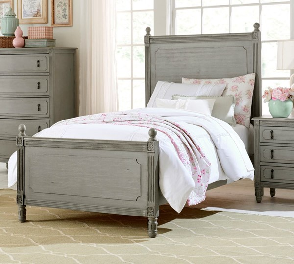 Home Elegance Aviana Gray Pewter Beds HE-1977-BEDS
