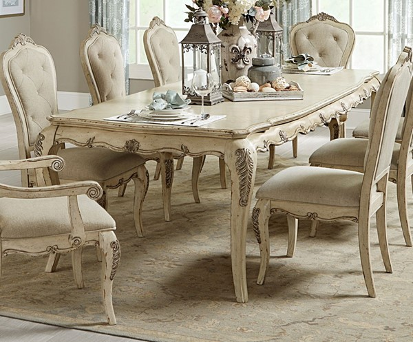 Home Elegance Elsmere Cream Gold Dining Table HE-1978W-112