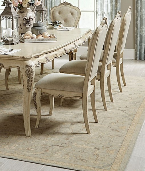 2 Home Elegance Elsmere Cream Gold Side Chairs HE-1978WS