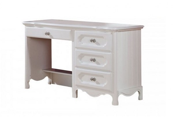 Hayley Country White Wood Rectangle Writing Desk HE-2007-15