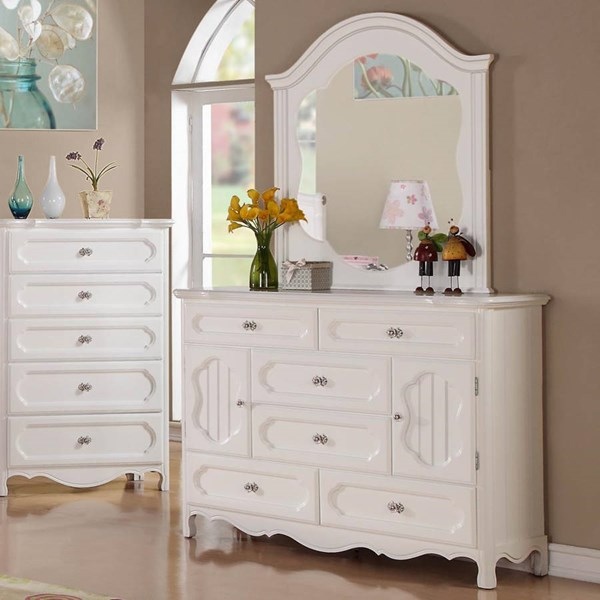 Hayley Country White Wood Multiple Drawers Dresser HE-2007-5