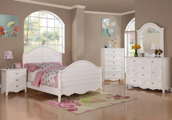 Hayley Country White Wood Kids Bedroom Set HE-2007-KBR