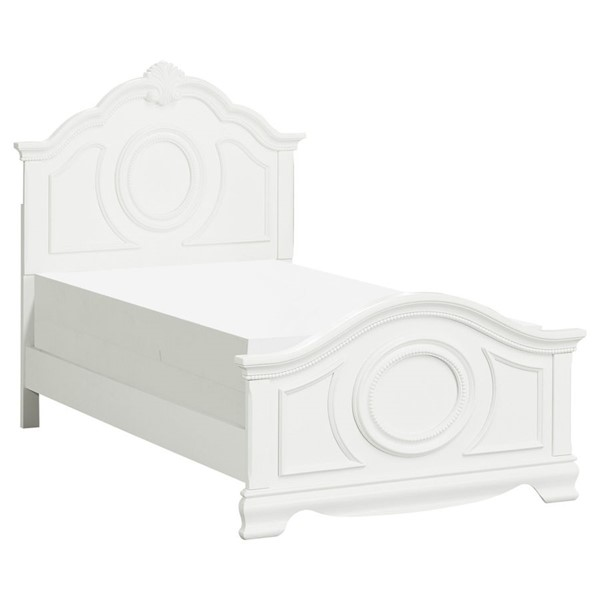 Home Elegance Lucida White Twin Bed HE-2039TW-1