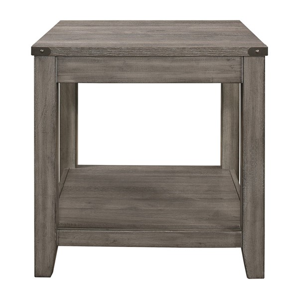 Home Elegance Woodrow Gray End Table HE-2042-04