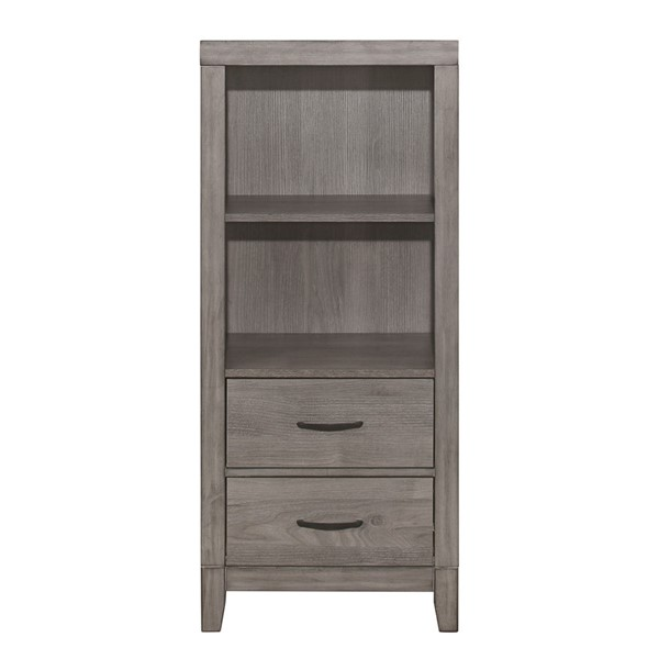 Home Elegance Woodrow Gray Pier Tower Night Stand HE-2042NB-10