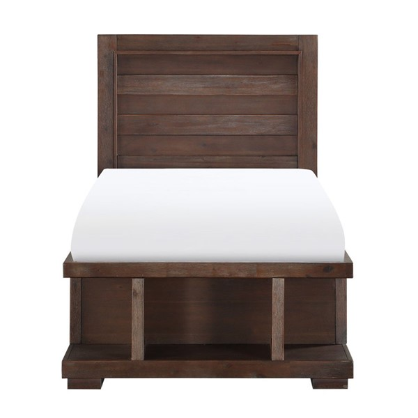 Home Elegance Wrangell Cherry Twin Platform Bed HE-2055T-1
