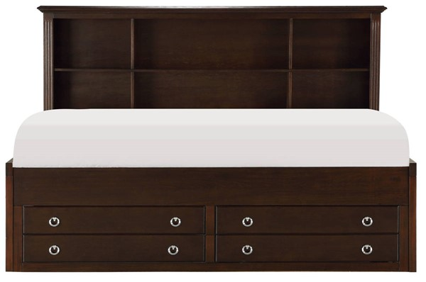 Home Elegance Espresso Full Lounge Storage Bed HE-2058CPRF-1