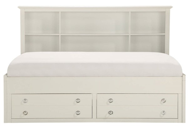 Home Elegance White Full Lounge Storage Bed HE-2058WHPRF-1