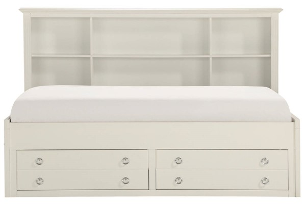Home Elegance White Twin Lounge Storage Bed HE-2058WHPRT-1