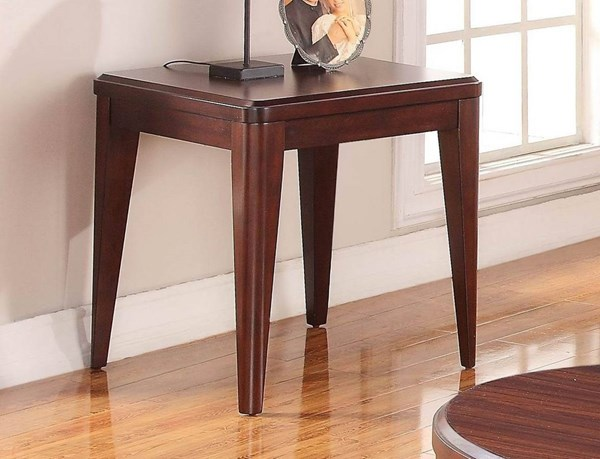 Beaumont Contemporary Medium Brown Cherry Wood End Table HE-2111-04