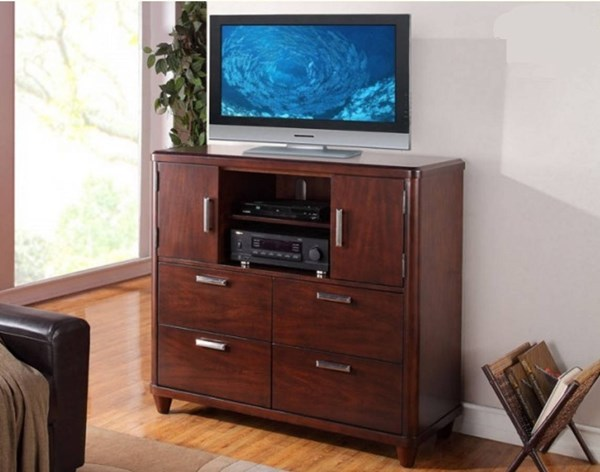 Beaumont Contemporary Medium Brown Wood TV Chest HE-2111-11