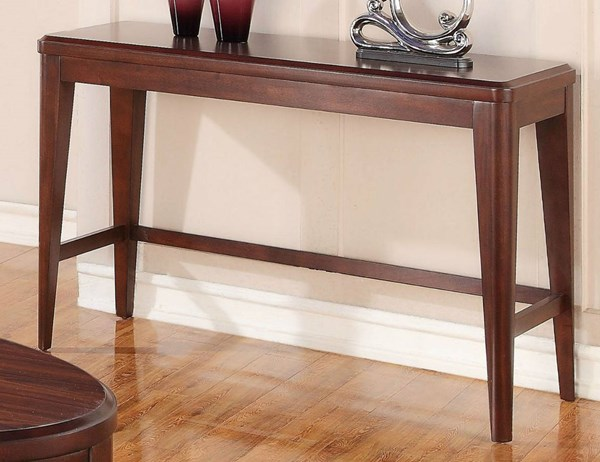 Beaumont Contemporary Medium Brown Cherry Wood Veneers Sofa Table HE-2111-15