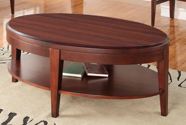 Beaumont Contemporary Medium Brown Cherry Wood Veneers Cocktail Table HE-2111-30