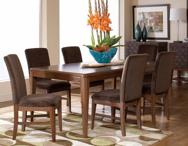 Beaumont Brown Cherry Wood Dining Room Set HE-2111DR