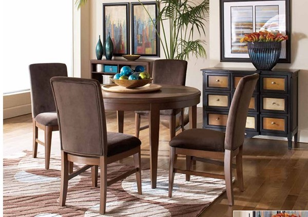 Beaumont Contemporary Brown Cherry Wood Dining Table HE-2111-72