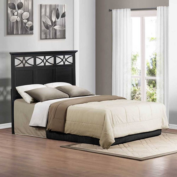 Sanibel Cottage Black White Wood Headboards HE-2119BK-1HB-VAR