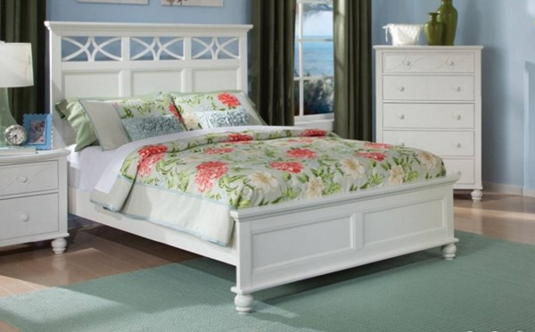 Sanibel Cottage White Wood Full Panel Bed HE-2119FW-1