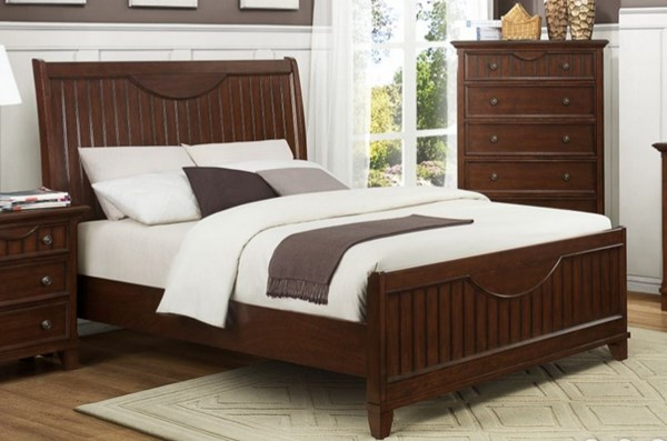 Alyssa Cottage Cherry White Wood Full Bed HE-2136FC-1