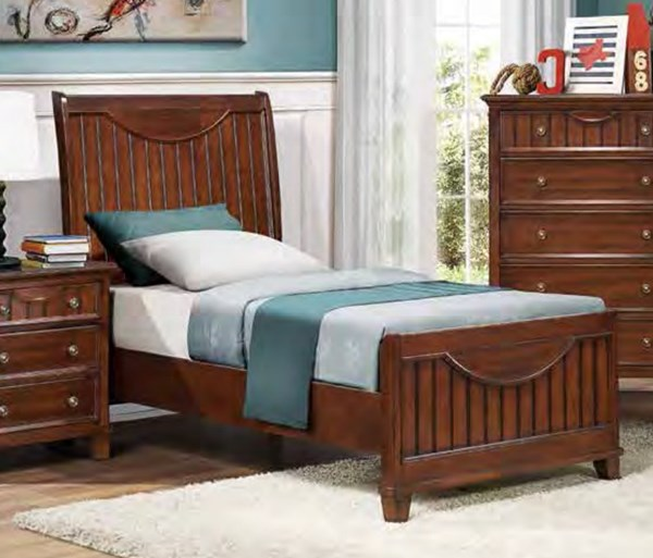 Alyssa Cottage Cherry White Wood Twin Bed HE-2136TC-1