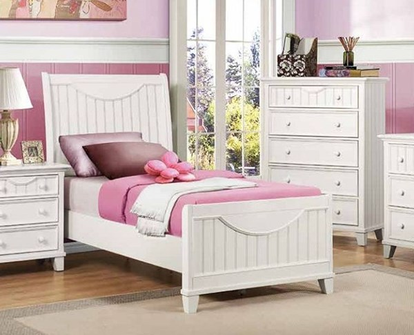Alyssa Cottage White Wood Full Panel Bed HE-2136FW-1