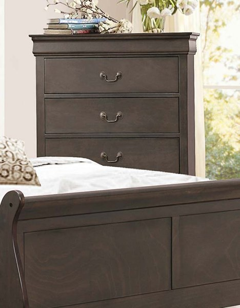 Home Elegance Mayville Stained Grey Chest HE-2147SG-9