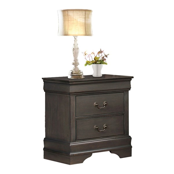 Home Elegance Mayville Stained Grey Night Stand HE-2147SG-4