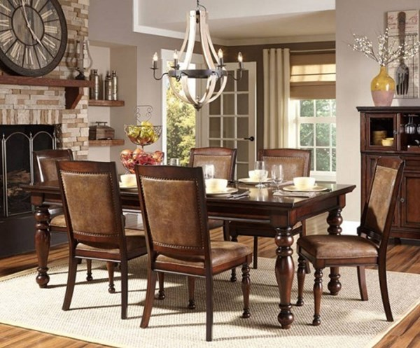 Cumberland Traditional Medium Brown Birch Wood Dining Table HE-2159-88