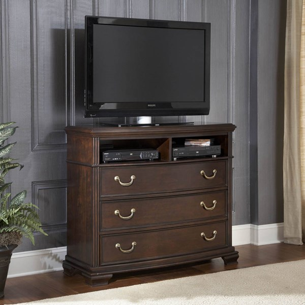 Wrentham Traditional Espresso Wood TV Chest HE-2166-11