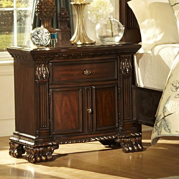 Orleans Traditional Rich Cherry Wood Night Stand HE-2168-4