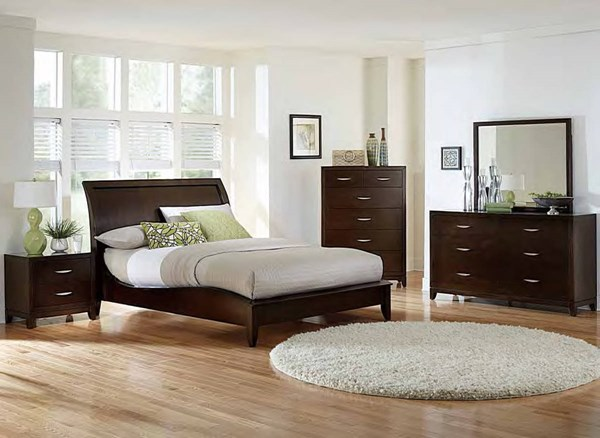 Home Elegance Starling Dark Cherry Master Bedroom Set HE-2217-BR