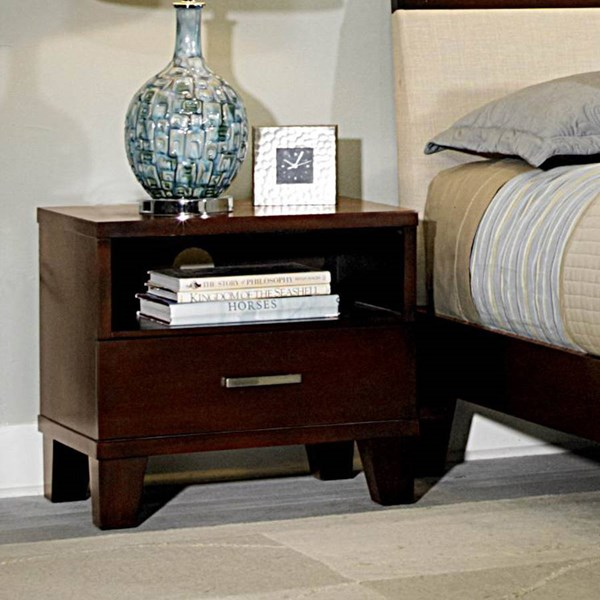 Claran Classic Dark Cherry Wood Night Stand HE-2219-4